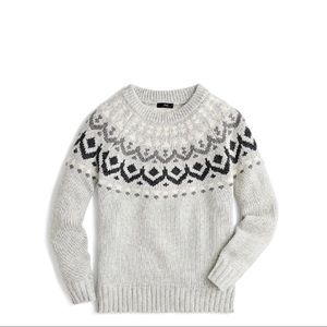 J. Crew Crewneck sweater in vintage Fair Isle New